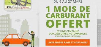 1 mois de carburant offert d'une valeur de 150€ sur IDgarages