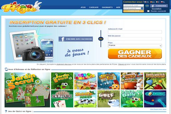 Prizee.com; site de jeux gratuits